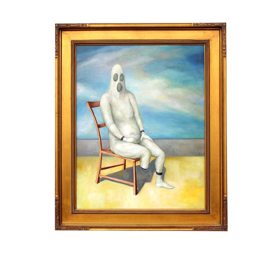 1.5 Legged Figure on 3 Legged Chair - Sean Thornton - 29x35""