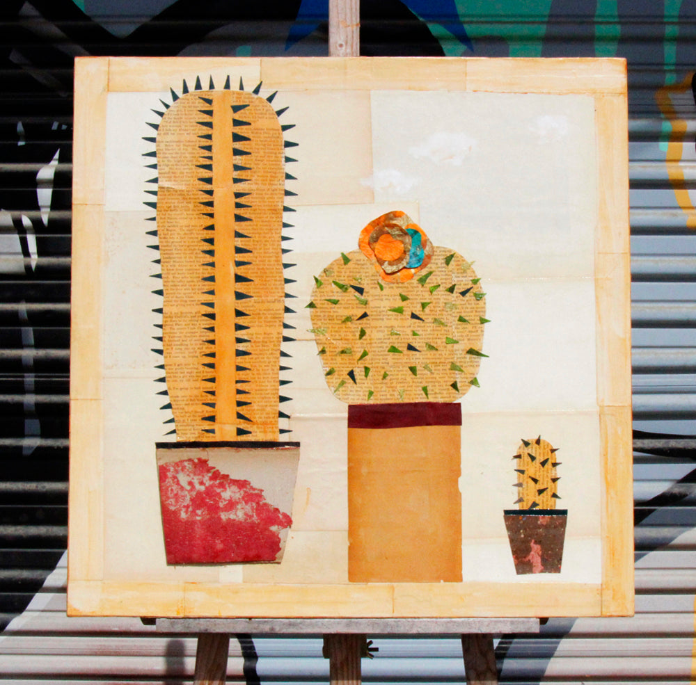 3 Cacti - Larry Goode - 24x24""