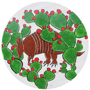 "The Cacti Dillo - Raymond Allen - 24"" round"