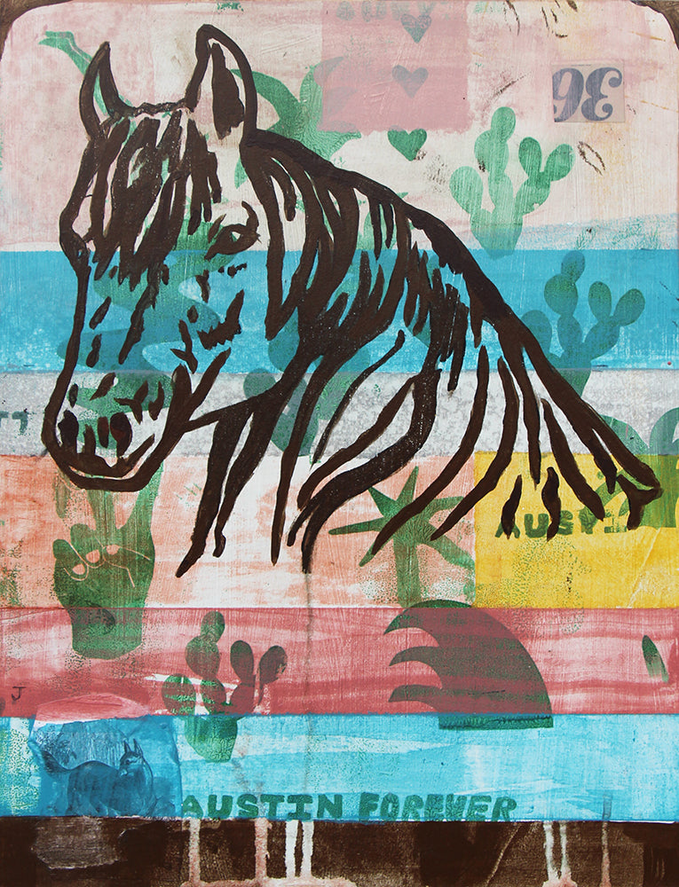 Austin Forever Horse - Judy Paul - 12x16""