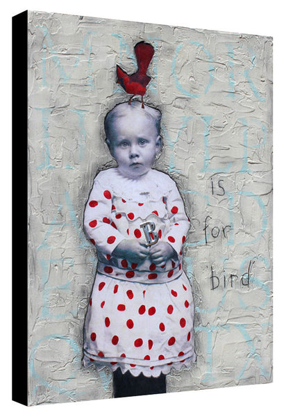 B is for Bird - Stephanie Rubiano - 18x24""