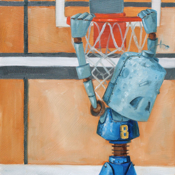 Basketball Bot - Lauren Briere - 8x8""