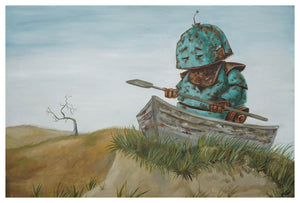 Beached Boat Bot - Lauren Briere - 16x24""