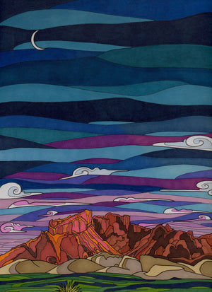 Big Bend at Night - Becca Borrelli - 8x10""
