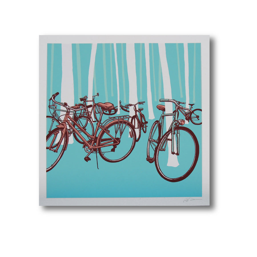 Bike Party - Dan Grissom - 12x12""