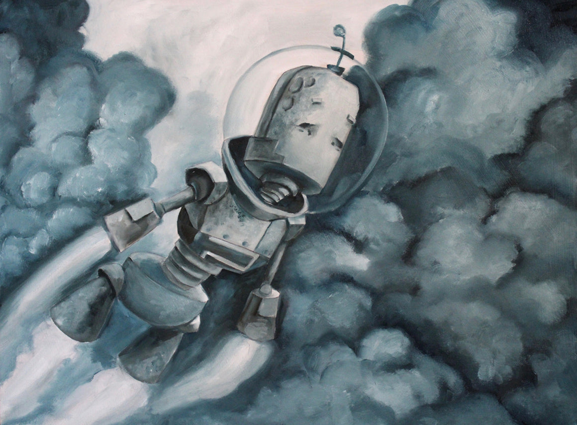Blast Off Bot - Lauren Briere - Print