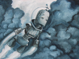 Blast Off Bot - Lauren Briere - 16 x 12""