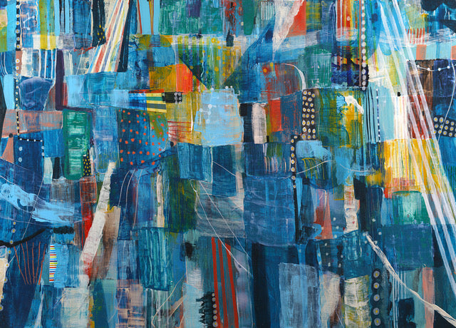 Blue Light - Judy Paul - 54x36""