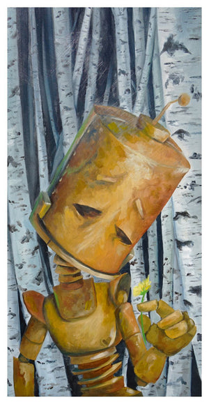 Pensive Birch Bot - Lauren Briere - Print