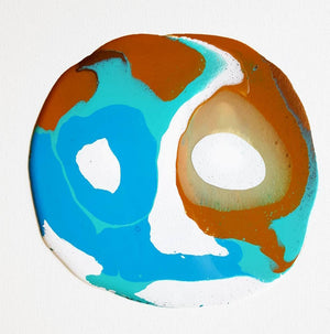 Blue Marble - Shelly Floyd - 16x16""