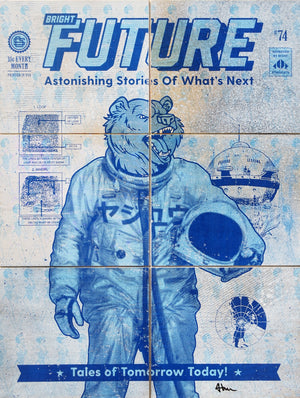 Bright Future Bear- Beast Syndicate - 18x24""
