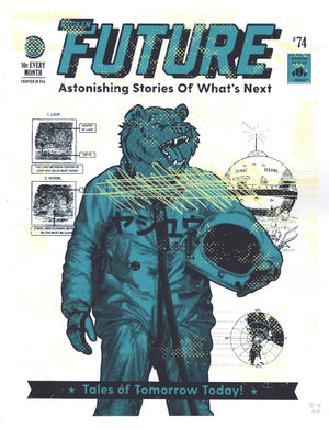 "Broken Future Bear - Beast Syndicate - 11x14""(screenprint)"