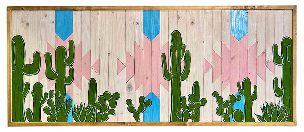 Cacti and Rose Water - Raymond Allen - 49.5x21""