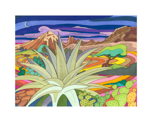Cacti in the Mountains - Becca Borrelli - 8x10""