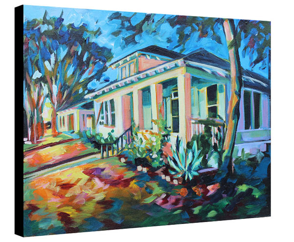 Cesar Chavez House at Night - Sari Shryack - 16x20""