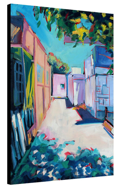 Colorful Back Alley - Sari Shryack - 24x36""