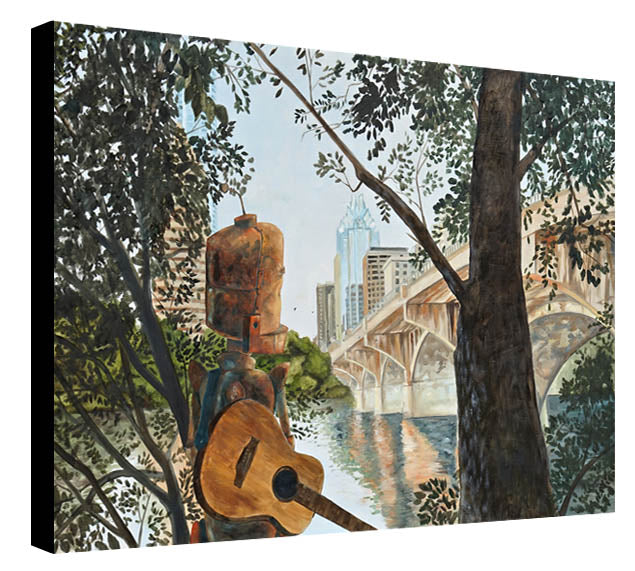 Congress Bridge Bot - Lauren Briere - Print