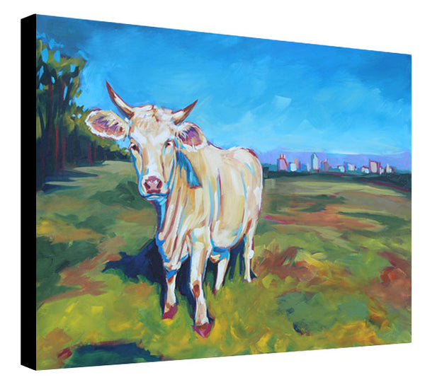 Cow and Skyline - Sari Shryack - 24x36""