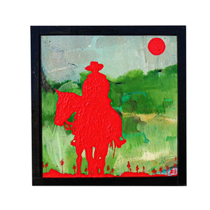 Cowboy of the Rising Sun - Brian Phillips - 5.5x5.75""