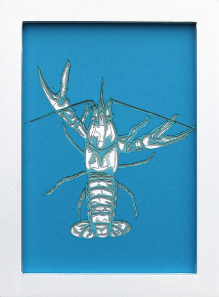 Crawfish Laser (Blue) - Seve Garza - 5x7""