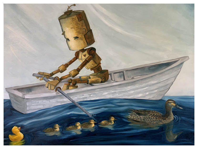 Ducky Bot - Print by Lauren Briere