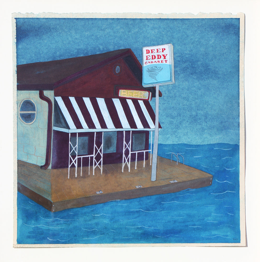 Deep Eddy - Heather Sundquist Hall - 12x12""