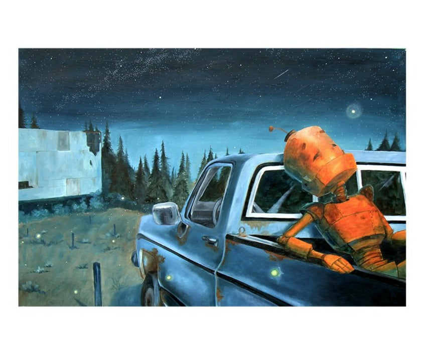 "Drive-In Bot - Lauren Briere - 24x36"" - ORIGINAL"