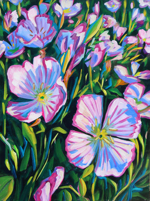 Mexican Evening Primrose - Sari Shryack - 18x24""