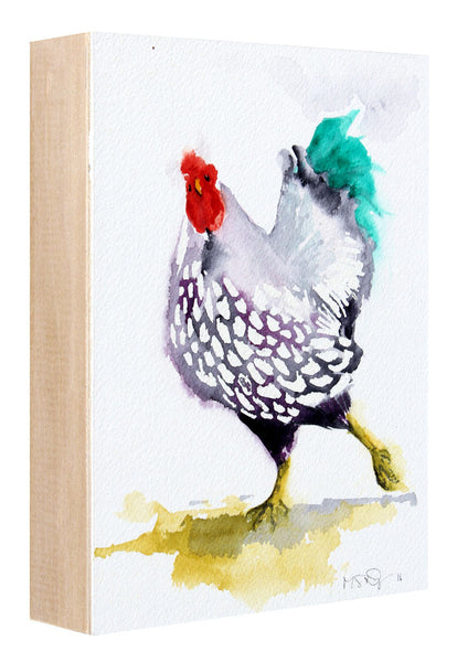 Fancy Chicken - Michelle St. Onge - 6x8""