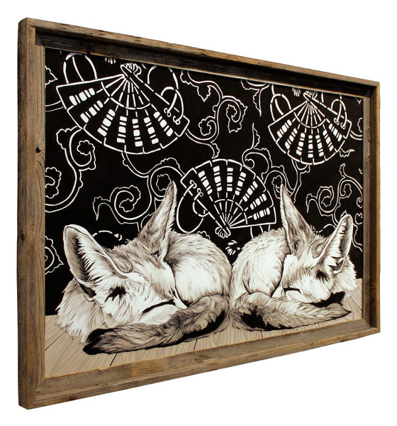 "Fennec Foxes - Flip Solomon - 24x36"" Framed"