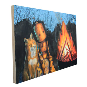 "Fire and Fox Bot - Lauren Briere - 24x36"" - ORIGINAL"