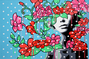 Untitled (Flower Power) - Phoebe Joynt - 36x24""