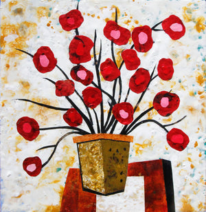 Flowers - Larry Goode - 24x24""