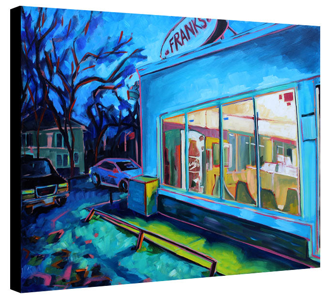 Frank's at Night - Sari Shryack - 30x40""