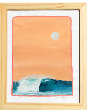 "Glassy Waves - Hallie Rose Taylor - 8x10"" framed"