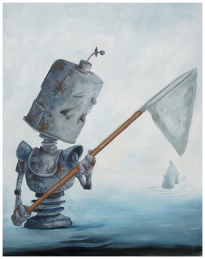 Gone Fishing Bot - Lauren Briere - Print