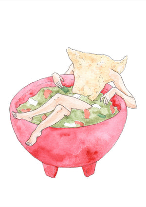 Guac and Chill - Jennifer Pate - 5x7""