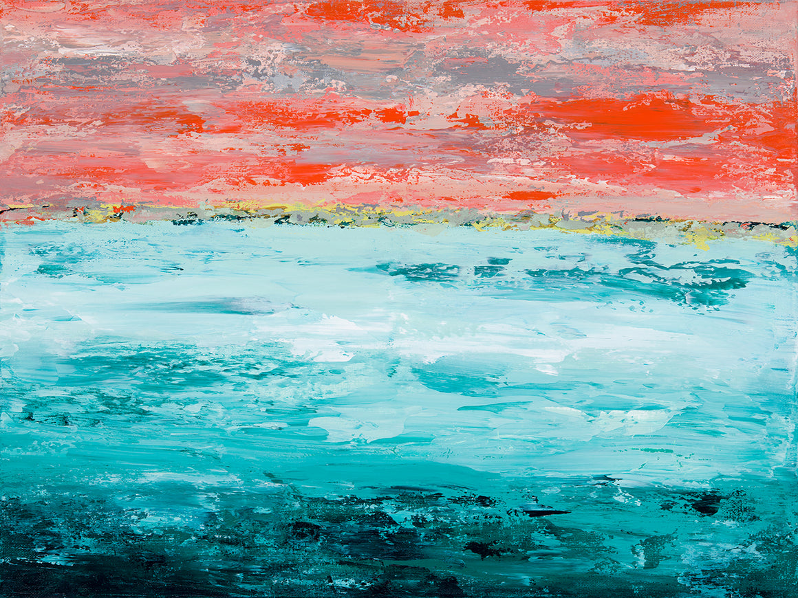 Gulf Shore Sunset - Dawn Winter - 18x25""