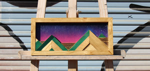 Hill Country Night - Raymond Allen - 13.25x6.25""