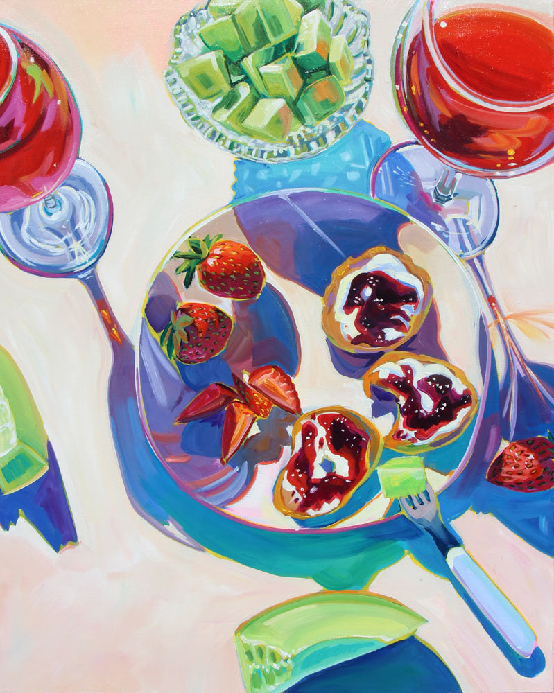 Honey Dew and Strawberry - Sari Shryack - 24x30""
