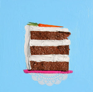 I'll Have a Giant Slice of Carrot Cake - Eli Halpin - 12 x 12""