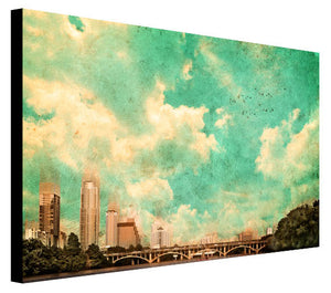 Austin From a Red Canoe - Judy Paul - Print