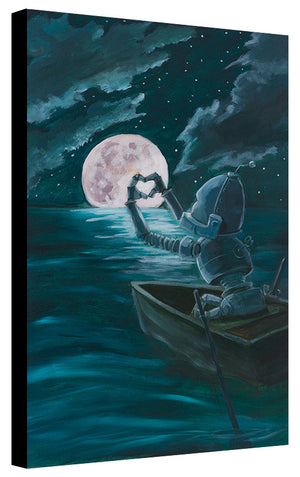 Hearts Moon Bot - Lauren Briere - Print
