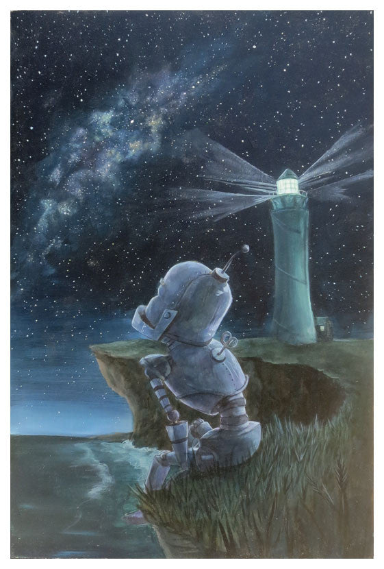 Lighthouse Bot - Lauren Briere - Print