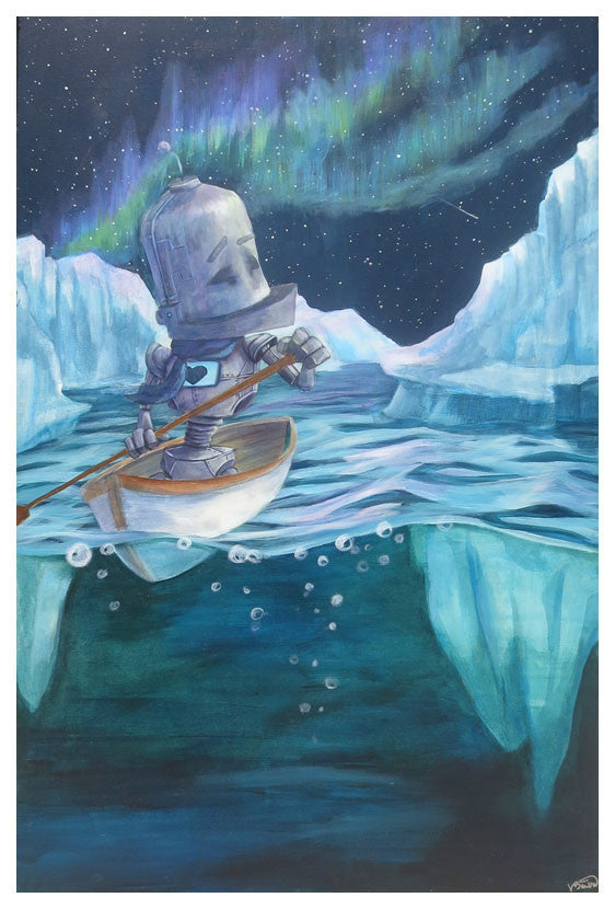 Northern Lights Bot - Lauren Briere - Print
