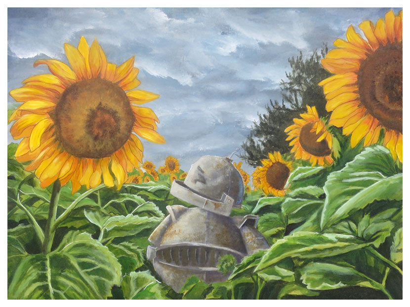 Sunflower Bot - Lauren Briere - Print