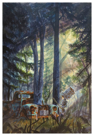 Tree Truck Bot - Lauren Briere - Print