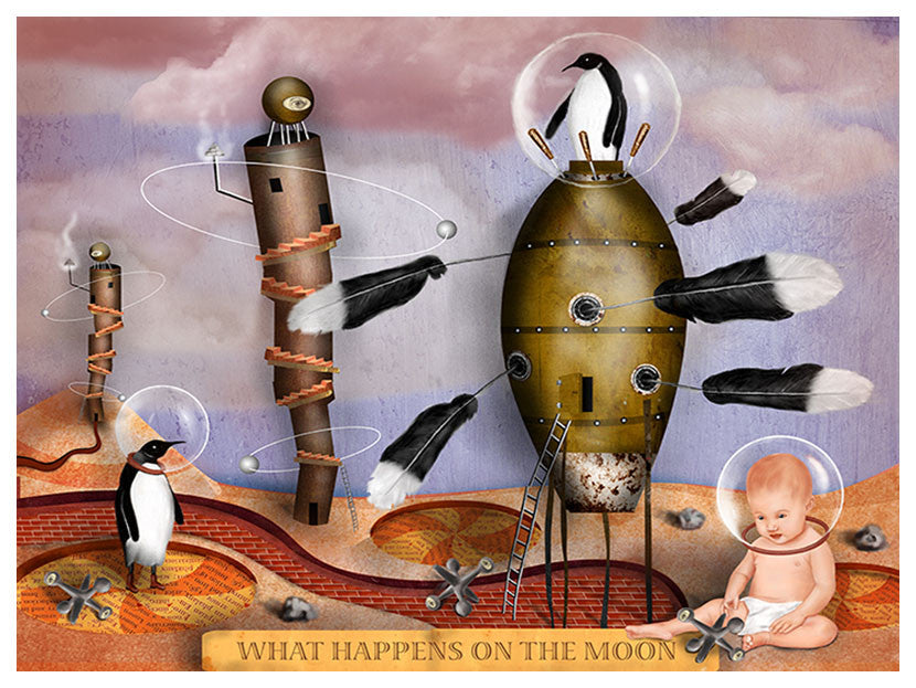 What Happens on the Moon I - Larry Goode - Various Sizes