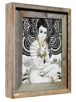 "Lakshmi, Goddess of Abundance... - Flip Solomon - 11x13"" Framed"
