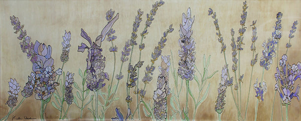 Lavender in Provence - Katie Dunkle - 8x24""